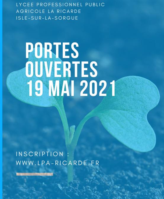 PORTES OUVERTES 19 MAI 2021 à 14h