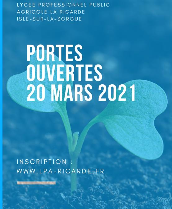 JOURNEE PORTES OUVERTES 20 mars 2021