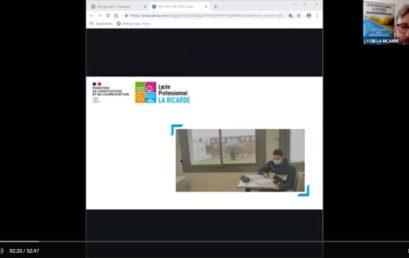 Vidéo visioconférence présentation du lycée