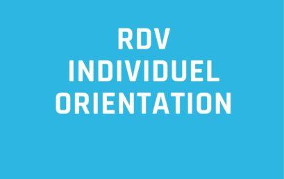 RDV individuel Orientation