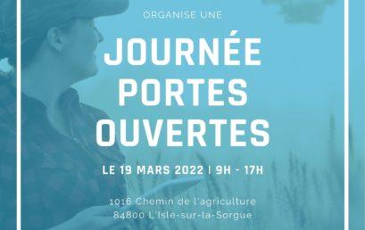 Journée Portes Ouvertes le 19 mars 2022