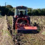 Chantier arrachage de vigne